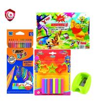 Pack - 12 stylos de peinture , taille crayon , feuille colore , pâte à modeler