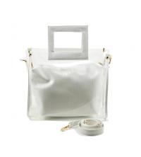 Sac à Main LC 330 - Simili Cuir - Transparant et croco design - Blanc