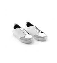 Sneakers kids - Simili Cuir - Nubuck - Lacets - Blanc LC 408