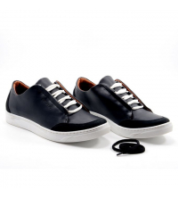 Sneakers Homme - Simili Cuir - Nubuck - Lacets - Noir LC 408