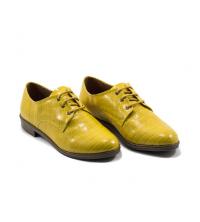 Oxford Style - Talon - Matt - Croco - Lacets - Rose Bébé LC 122