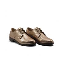 Oxford Style - Talon - Matt - Croco - Lacets - Bronze LC 122