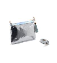 Pochette LC 715 – Brodé - Perle de Paillette de forme disque – Argent