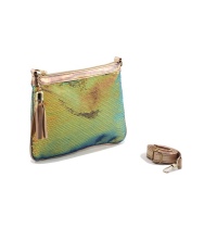 Pochette LC 715 – Brodé - Perle de Paillette de forme disque – Vert Changeant