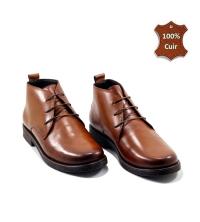 Boots - Lacets - Cuir - Matt - Marron F20