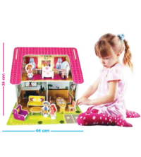Maison de poupee a monter-66 Pieces avec figurines