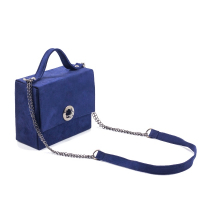 Sac à Main LC 7004 - Nubuck - Forme Carré - Bleu