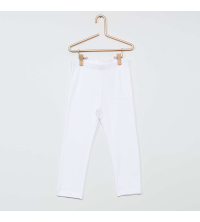 Legging court uni fille blanc