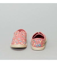 Baskets type espadrilles fille rose