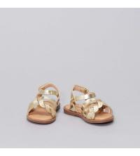Sandales en simili dorE et pailletE