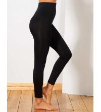 Legging doublE polaire noir