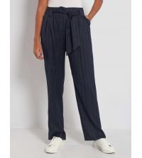 Pantalon large A rayures