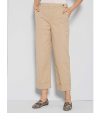 Pantalon court A revers