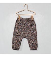 Pantalon en voile de coton imprimE fleurs