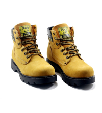 Boots LC 802 - Pour Homme - Cuir - Jaune Moutarde