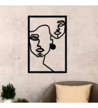 Berber Woman Face – 60/40 cm – en Bois Noir
