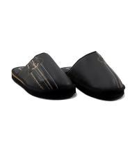 Chausson/Mule LC 11 - Simili Cuir - Couture - Noir