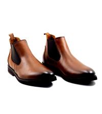 Boots LC 480 – Stretch Elastique - Cuir - Marron Matt
