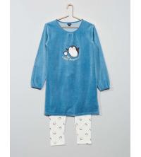 Pyjama pingouin bi-matière