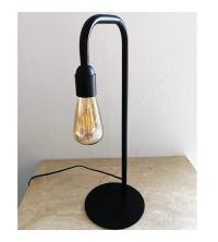 Lampe à poser FerBo – Noir – H50cm + Ampoule