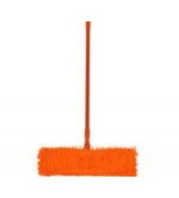 Balai à Raclette Microfibres - Complet - 120 cm x 40 cm - Avec Manche - Télescopique - Orange