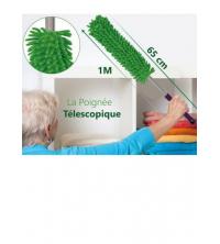 Brosse Microfibres - 97 cm - Avec Manche - Télescopique - Vert