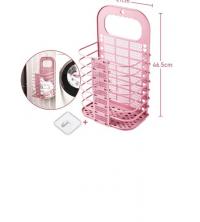 Paniers à Linge Et Vêtements Souillés - En Plastique - 27 X 46.5 Cm - Rose