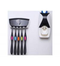 Distributeur - Dentifrice - Avec Support De 5 Brosses A Dents - Blanc - Noir