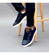 Baskets LC 56 - Sportwear - Imperméable - Bleu & Marron