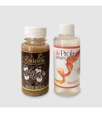 Brasiléia Professional - Keratin Coffee 100ml + Shampooing ProLiso pH 5 100ml