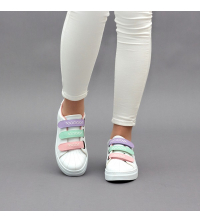 Sneakers Femme LC 2020 Multi-Couleur V - Simili Cuir- Scratch