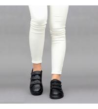 Sneakers Femme LC 2020 Noir - Simili Cuir- Scratch