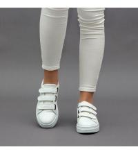 Sneakers Femme LC 2020 Blanc - Simili Cuir- Scratch