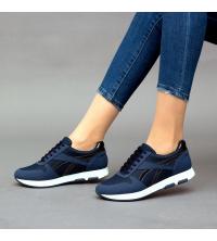 Running Sneakers LC 8002 Bleu - Textile - Nubuck - Simili-Cuir Vernis
