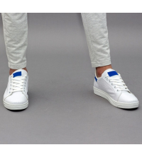 Sneakes LC 55 - Sportwear - Blanc et Bleu