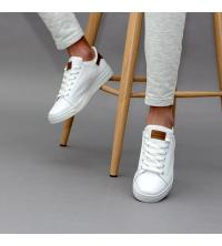Sneakes LC 55 - Sportwear - Blanc et Marron
