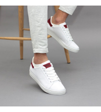 Sneakes LC 55 - Sportwear - Blanc et Rouge