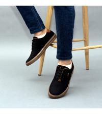 Sneakers LC 1015 - Tissu – Imperméable - Lacets - Noir