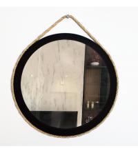 Miroir Cordy Noir – Ø36 cm