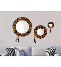 Set 3 Miroirs texture africain