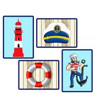 Tableau marin casque capitaine