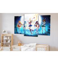 Tableau décoratif 3 pièces - filles rêveuse