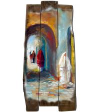 Tableau décoratif artistika - au porte de la médina - 30 x 50 cm