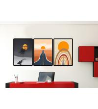 Tableau décoratif 3 pièces - Horizon - 50 x 60 cm x 3