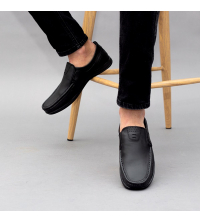 Mocassins LC 037 - Slips-on - Cuir - Noir