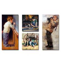Tableau décoratif 4 pces cube enfant1 - 2 x 35 x 70 x3 cm / 2 x 35 x 35 x3 cm