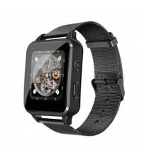 Smart Watch Avec caméra, Bluetooth & Carte sim - Black - Metal