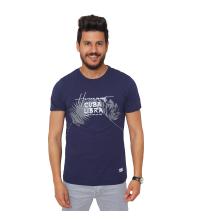 T-Shirt Imprimé- bleu
