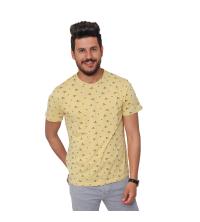 T-Shirt Imprimé- jaune