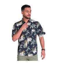 chemise tropical - bleu